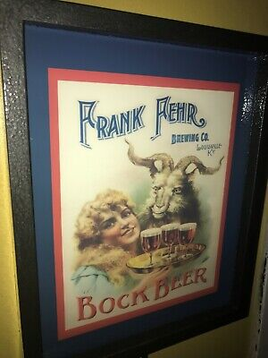 Frank Fehr Brewing CO. Louisville KY Beer Bar Man Cave Lighted Advertising Sign
