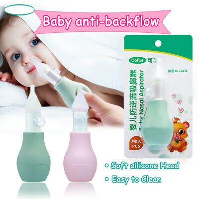 AU Newborn Baby Nasal Vacuum Suction Mucus Aspirator Runny Nose Cleaner Eyeful