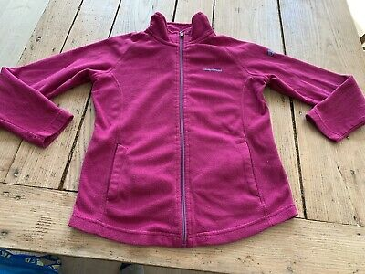 Fabulous CRAGHOPPERS Deep Pink Full Zip Fleece TOP JACKET, Ski Thermal, 9-10 Yr