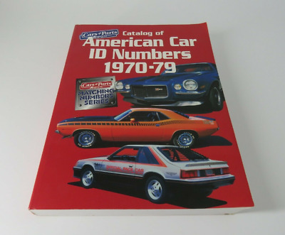 Matching Numbers American Car I.D. Numbers, 1970-79 libro auto americane