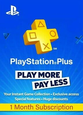 PSN 1 mese compatibile con PlayStation PS Plus PS4-PS3 -Vita - NO CODE