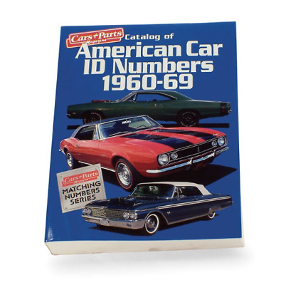Matching Numbers American Car I.D. Numbers, 1960-69 libro auto americane