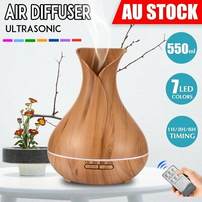 Aroma Aromatherapy Diffuser Essential Oil LED Ultrasonic Air Humidifier Purifier