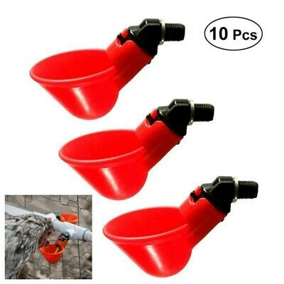 10 PCS Quail Chicken Bird Automatic Nipple Drinkers Screw Style Poultry Feeders