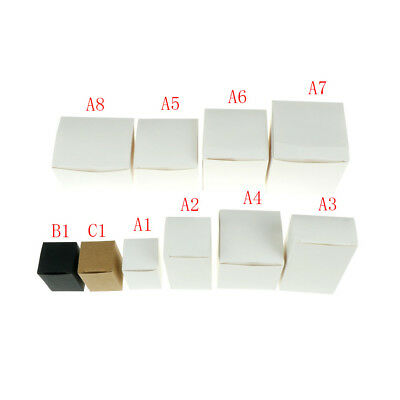 White Black Kraft box for packaging 1pcs/lot Brown handmade soap paper boxes iEC