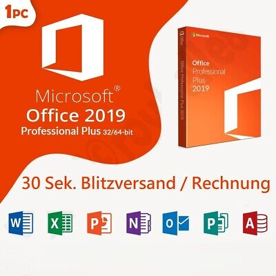 Microsoft Office 2019 PRO Professional Plus ✓Vollversion ✓Software Lizenz-Key ✓