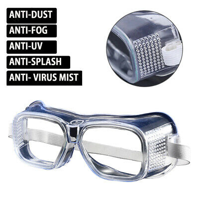 Outdoor Eye Protection Glasses Anti-Saliva Vi Dust Anti-fog Safety Goggles Clear