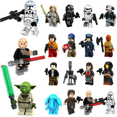 Star Wars MInifigures Building Blocks Han Solo Yoda Ray Compatible With Lego toy