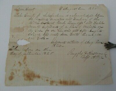 1826 Ulster County NY Supreme Court Satisfaction