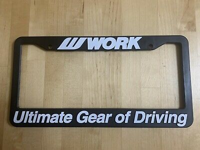 1 X WORK WHEELS LICENSE PLATE FRAME EMOTION EQUIP VS MEISTER GNOSIS VARIANZA LS