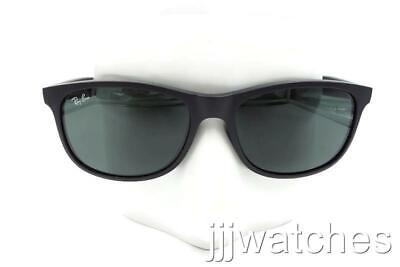Ray Ban Andy Black Classic Green Square Sunglasses RB4202 6069/71 55-17 < $128