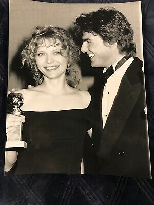 Art print POSTER CANVAS Tom Cruise and Michelle Pfeiffer with Trophies