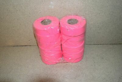 ^^ Flagging Survey Tape Pink Glo 12 Rolls - New (W1)