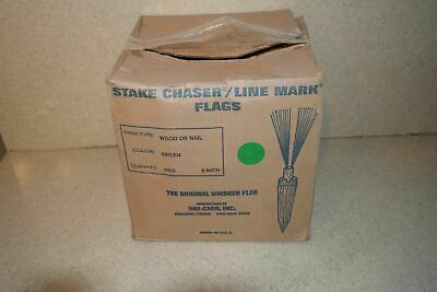 "^^ Stake Chaser/Line Mark Flags Green 6"" - New (D1)"
