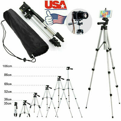 Professional Camera Tripod Stand Holder Mount for iPhone Samsung Cell Phone +Bag