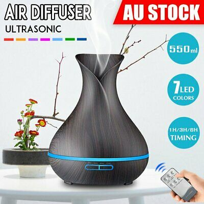 Essential Oil Aroma Aromatherapy Diffuser LED Ultrasonic Air Humidifier Purifier