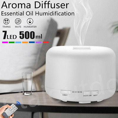 500ml LED Aroma Diffuser Essential Oil Ultrasonic Air Aromatherapy Humidifier