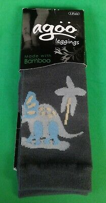 Agoo Leggings x 1 Pair of Kids Grey Rhinoceros Leg Warmers (One Size Fits All)