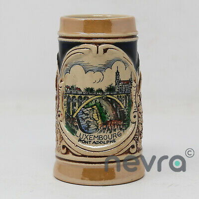 Vintage, Hand Made Luxembourg 'Pont Adolphe' Beer Stein, Mug, Decorative