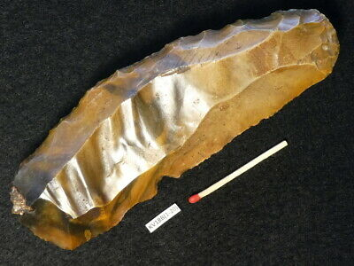 4000Y.OLD: SUPERB REED SICKLE 132mms DANISH LATE STONE AGE NEOLITHIC FLINT SILEX