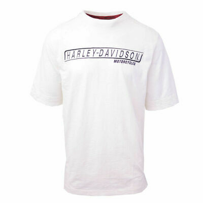 Harley-Davidson Men's Box Logo Cream White S/S Tee (Retail $60)