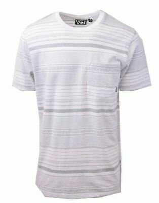 Vans Off The Wall Men's White Striped Climbed-J S/S Tee S02 (Retail $34)