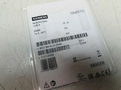Siemens Simatic Memory Card 256Mb 6Es7954-8Ll03-0Aa0 Factory Sealed New M/Offer