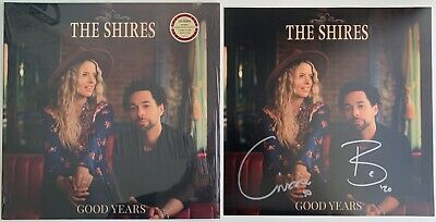 "THE SHIRES GOOD YEARS RED VINYL ALBUM LP with HAND SIGNED 12"" x 12"" PHOTO SEALED"