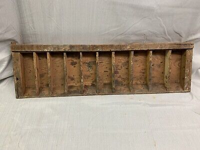 Antique Vintage Distressed  Divided Wood Tray