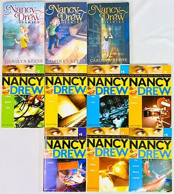 Lot 10 Nancy Drew girl detective Alddin #2 - 8 Diaries #2 3 13 by Carolyn Keene