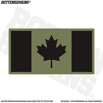 """Canada Subdued Flag Canadian Army Military Tactical Car Sticker Decal 2.5/"""""""