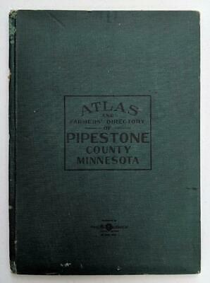 CORRELATED 1914 ATLAS & FARM DIRECTORY, PIPESTONE COUNTY, MN MAPS, Agriculture
