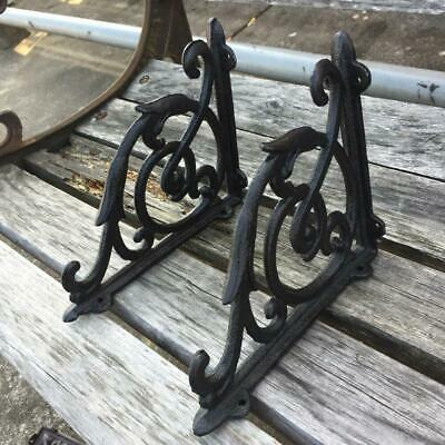 Lot 8 Antique Style Frontier Corbels Shelf Brace Wall Bracket Cast Iron Metal