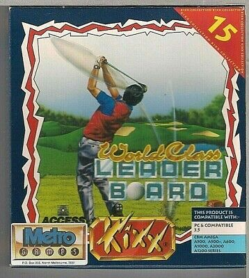 "World Class Leaderboard Golf  IBM PC / CBM Amiga 3.5"" FDD"