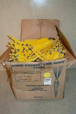 ^^ Stake Chaer/Line Mark Flags Yellow - New (Ab20)
