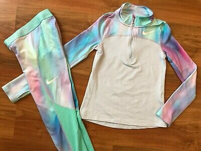 Girls NIKE PRO MERMAID Gym Dance TRACKSUIT (age8-10) *L@@K*