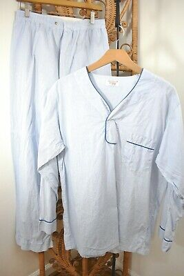 50s 60s VTG ~ Men's ENRO Blue Stripe * PJ SET * Sz B / M ~ Look COOL / Be LAZY!