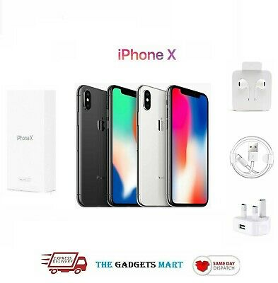 Apple iPhone X A1901 64GB Smartphone Space Grey/Silver Unlock Pristine Condition