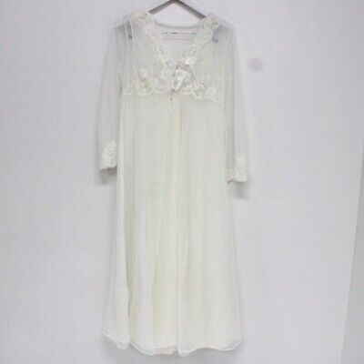 HILTON Vintage Aussie Made Cream Lace Nightgown & Robe Set NWOT Size 12 #120