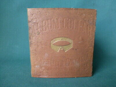 Antique Book Case 1870 Album Collar Case Reversible Collar Company Boston Mass