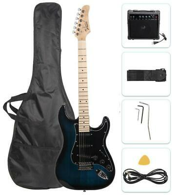 """Glarry 39"""" Electric Guitar for Music Lover Beginner with 20W Amp Dark Blue"""