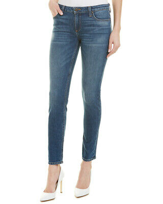 Alice + Olivia Good Low-Rise Skinny Leg Women's Blue 27