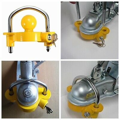 Heavy Duty Universal Secure Caravan Trailer High Safety Hitch Lock Coupling  !