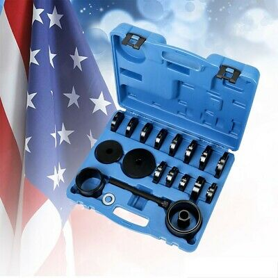 Front Wheel Drive Bearing Removal Adapter Puller Pulley Tool Kit W/CASE 23 PCs