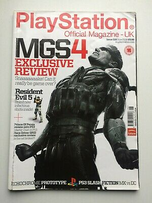 PLAYSTATION Official Magazine UK June 2008 MGS4, Resident Evil 5