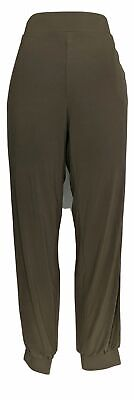 Lisa Rinna Collection Women's Sz M Regular Knit Ankle Pants Brown A309057
