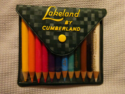 Lakeland 12 Colour Pencils Vintage Green Plastic Pack