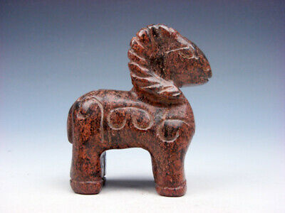 Old Nephrite Jade Stone Carved Sculpture Standing Ancient Antelope #07201906