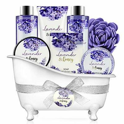 Bath and body gift set - Body & Earth 8-piece bath set with lavender and