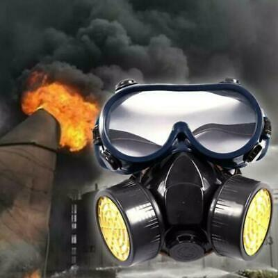 Gas Mask Survival Safety Respiratory Emergency Anti Dual 2 Goggles NEW